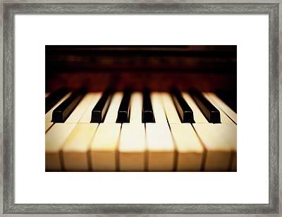 Dreamy Piano Keys Framed Print by Rapideye