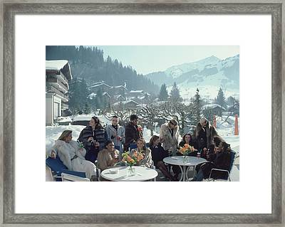 Drinks At Gstaad Framed Print
