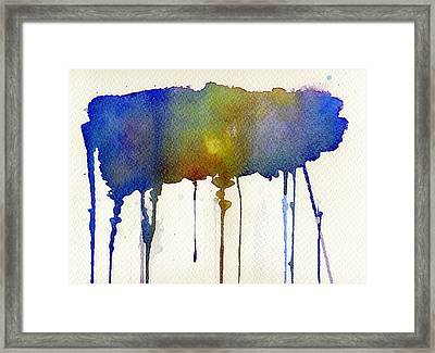 Framed Print featuring the painting Dripping Universe by Bee-Bee Deigner