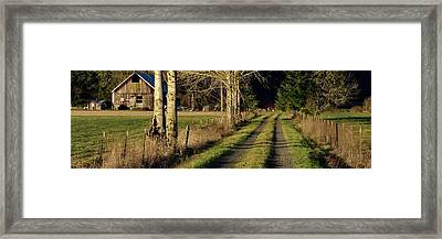 Framed Print featuring the photograph Driveway Home by Jerry Sodorff