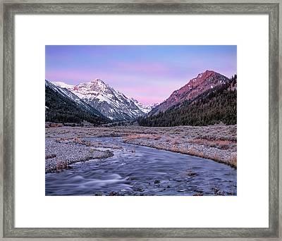 Dry Creek Framed Print by Leland D Howard