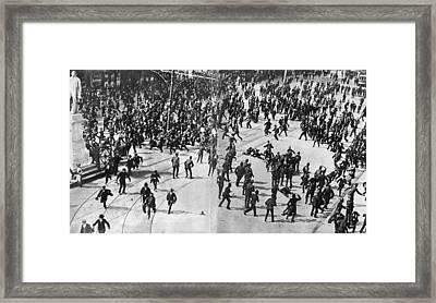 Dublin Riot Framed Print by Evening Standard