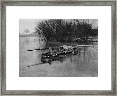 Duckshooter Framed Print by Topical Press Agency