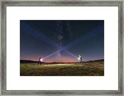 Duel Of Light Framed Print by Carlos Fernandez