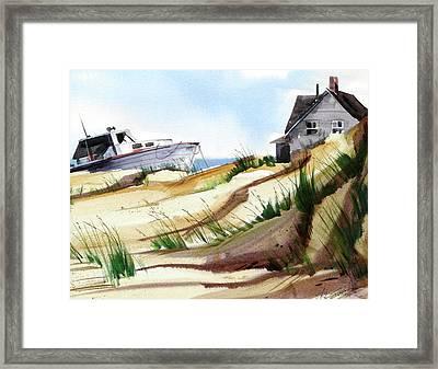 Dune Docked Framed Print by Art Scholz