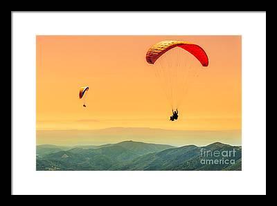 Parachute Jump Photographs Framed Prints