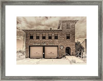Framed Print featuring the photograph Duran Fire Dept by Lou Novick