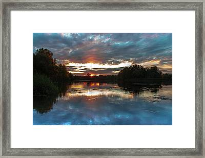 Dusk Aquarelle Framed Print