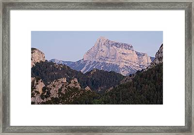 Framed Print featuring the photograph Dusk At Pena Montanesa by Stephen Taylor