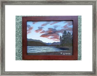Dutch Harbour, Evening Sky Framed Print