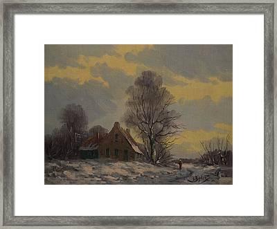 Dutch Snow Landscape Framed Print