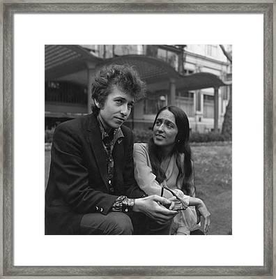 Dylan And Baez Framed Print by Keystone