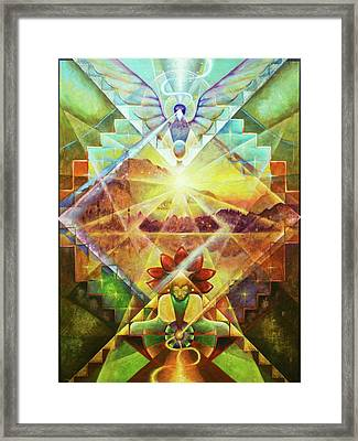 Eagle Boy And The Dawning Of A New Day Framed Print