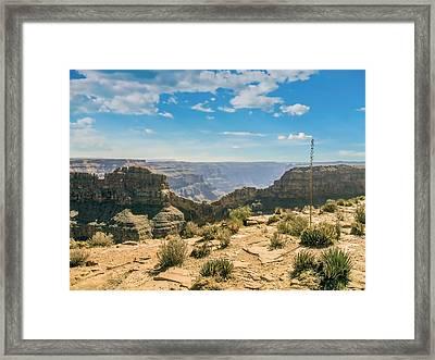 Eagle Rock, Grand Canyon. Framed Print