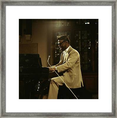 Earl Hines On Stage Framed Print by David Redfern