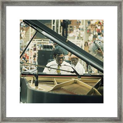 Earl Hines Performs At Newport Framed Print by David Redfern