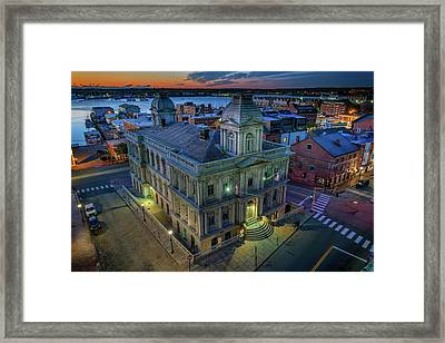 Framed Print featuring the photograph Early Morning In The Old Port by Rick Berk