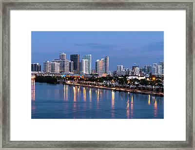 Early Rise Miami Framed Print