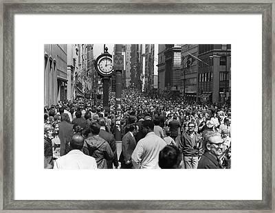 Earth Day On 5th Avenue Framed Print by Fred W. McDarrah