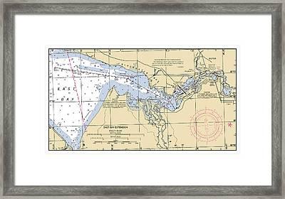 East Bay Extension Noaa Chart 11385_5 Framed Print