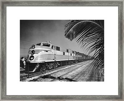 East Coast Train Framed Print by R. Gates