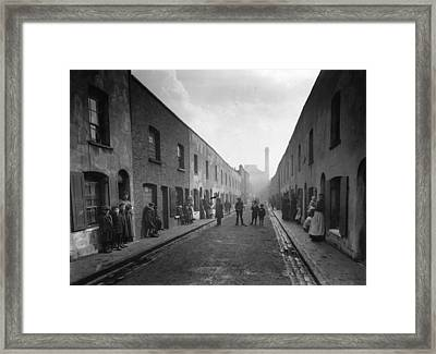 East End Street Framed Print by Topical Press Agency