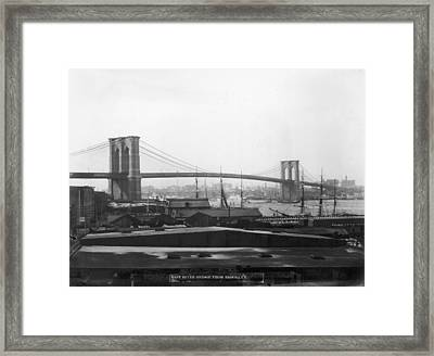 East River Bridge Framed Print by P. L. Sperr