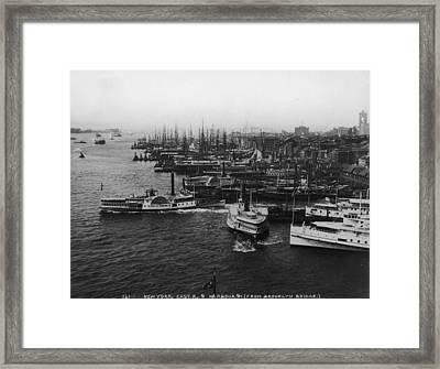 East River Harbour Framed Print by P. L. Sperr