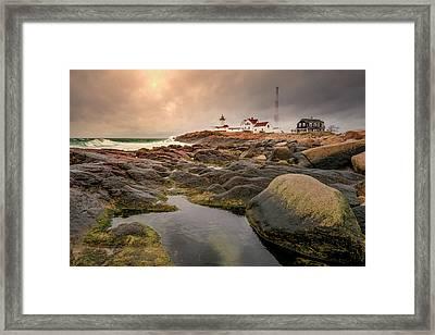 Eastern Point Lighthouse At Sunset Framed Print