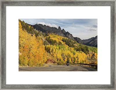 Framed Print featuring the photograph Easy Autumn Rider by James BO Insogna