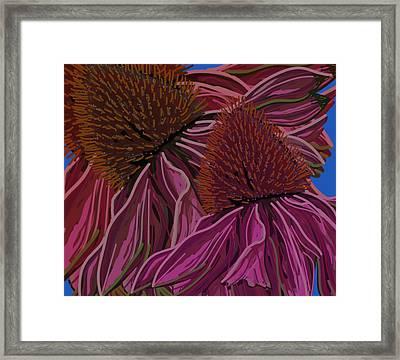 Echinacea Flower Blues Framed Print