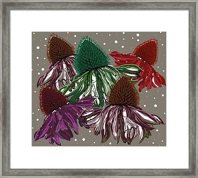 Echinacea Flowers Dance Framed Print