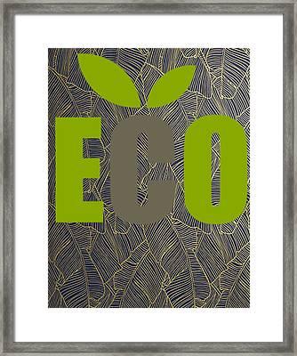 Eco Green Framed Print