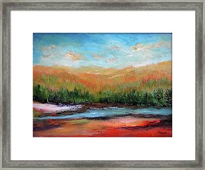 Edged Habitat Framed Print