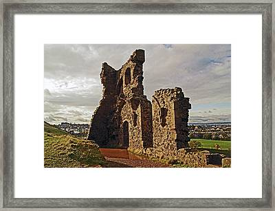 Edinburgh. St. Anthony's Chapel, Holyrood Park Framed Print