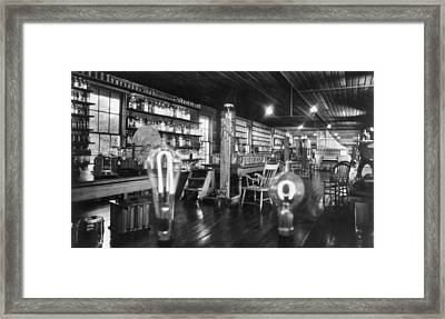 Edisons Lab Framed Print by Hulton Archive