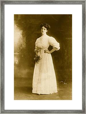 Edwardian Gown Framed Print by Hulton Archive
