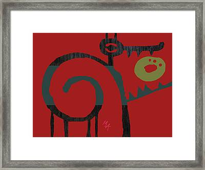 Framed Print featuring the digital art Eggeater by Attila Meszlenyi