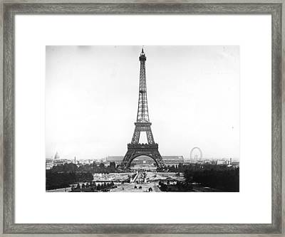 Eiffel Tower Framed Print by Hulton Archive