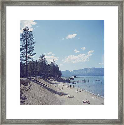 El Dorado Beach Framed Print by Slim Aarons