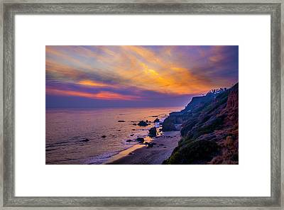 El Matador Sunset Framed Print