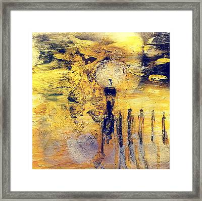 Framed Print featuring the painting Elaine by 'REA' Gallery