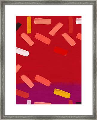 Framed Print featuring the mixed media Elation 1- Abstract Art By Linda Woods by Linda Woods