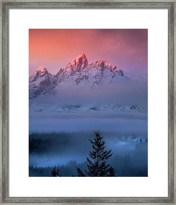 Framed Print featuring the photograph Electic Sunrise / Grand Teton National Park  by Nicholas Parker