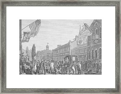 Election In Front Of State House, Pa Framed Print by Kean Collection