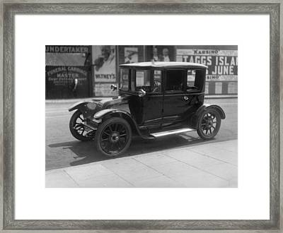Electric Car Framed Print by Topical Press Agency