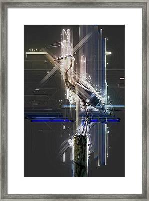 Electric Heron Framed Print