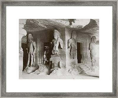 Elephanta Caves Framed Print by Hulton Archive