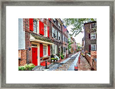 Elfreths Alley Framed Print