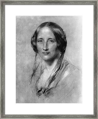 Elizabeth Gaskell Framed Print by Hulton Archive